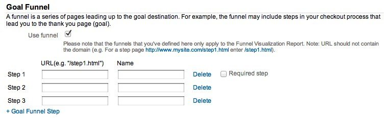 Goal Funnel Google Analytics