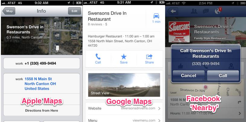 Local SEO: Google vs. Apple vs. Facebook Nearby