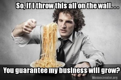 spaghetti content marketing strategy