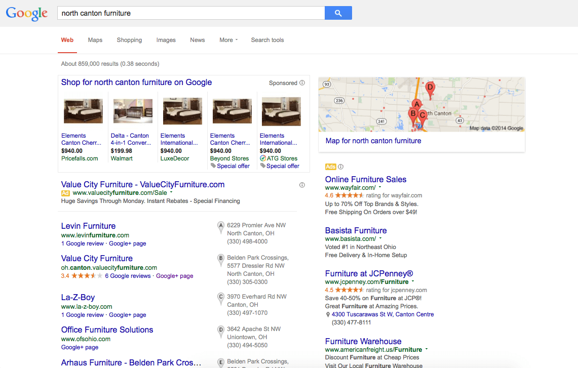 Google+ Search Results Example 2