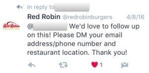 Red Robin Tweet 1