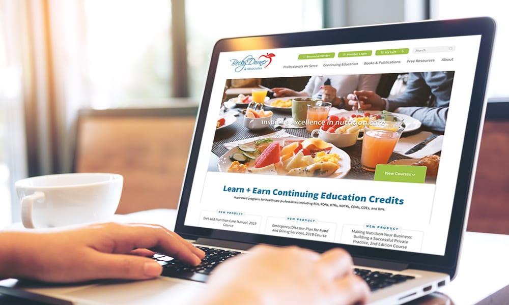 Becky Dorner Website on Laptop