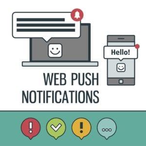 Web push notifications