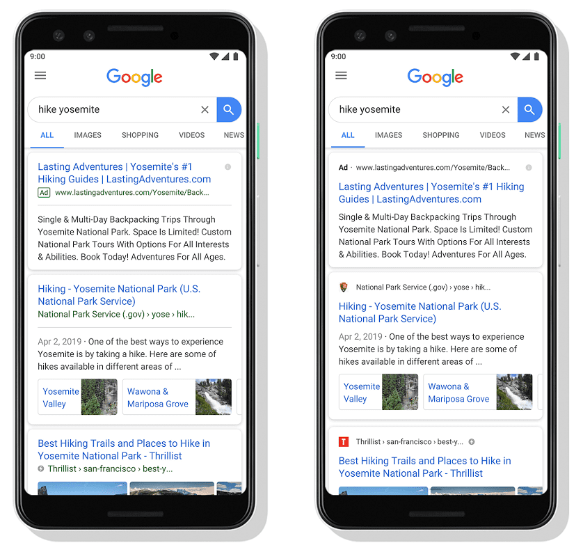 Mobile Favicons from Google