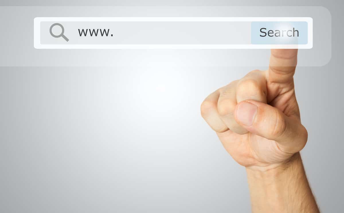 Search Bar with Pointing Finger