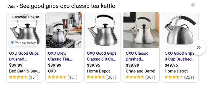 Google Merchant Listings