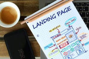 Website landing page layout