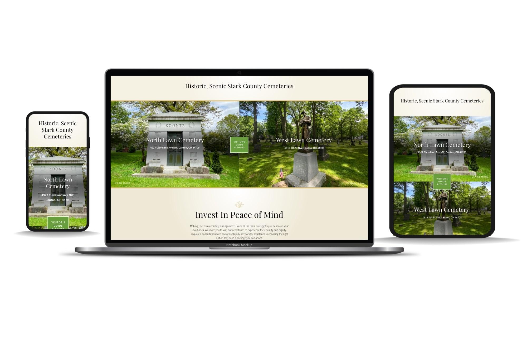 Canton-Cemetery-Website-Desktop-Tablet-Mobile