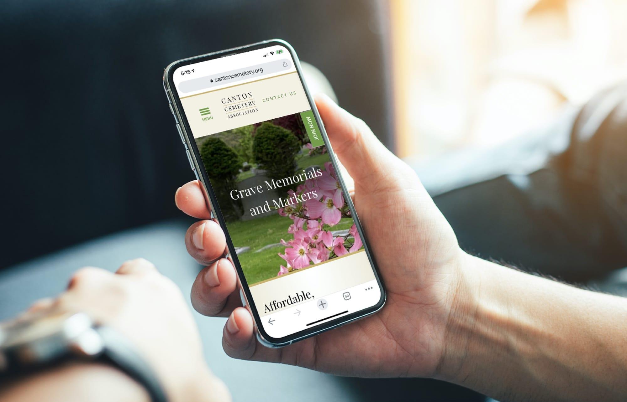 Canton-Cemetery-Website-Mobile-Design