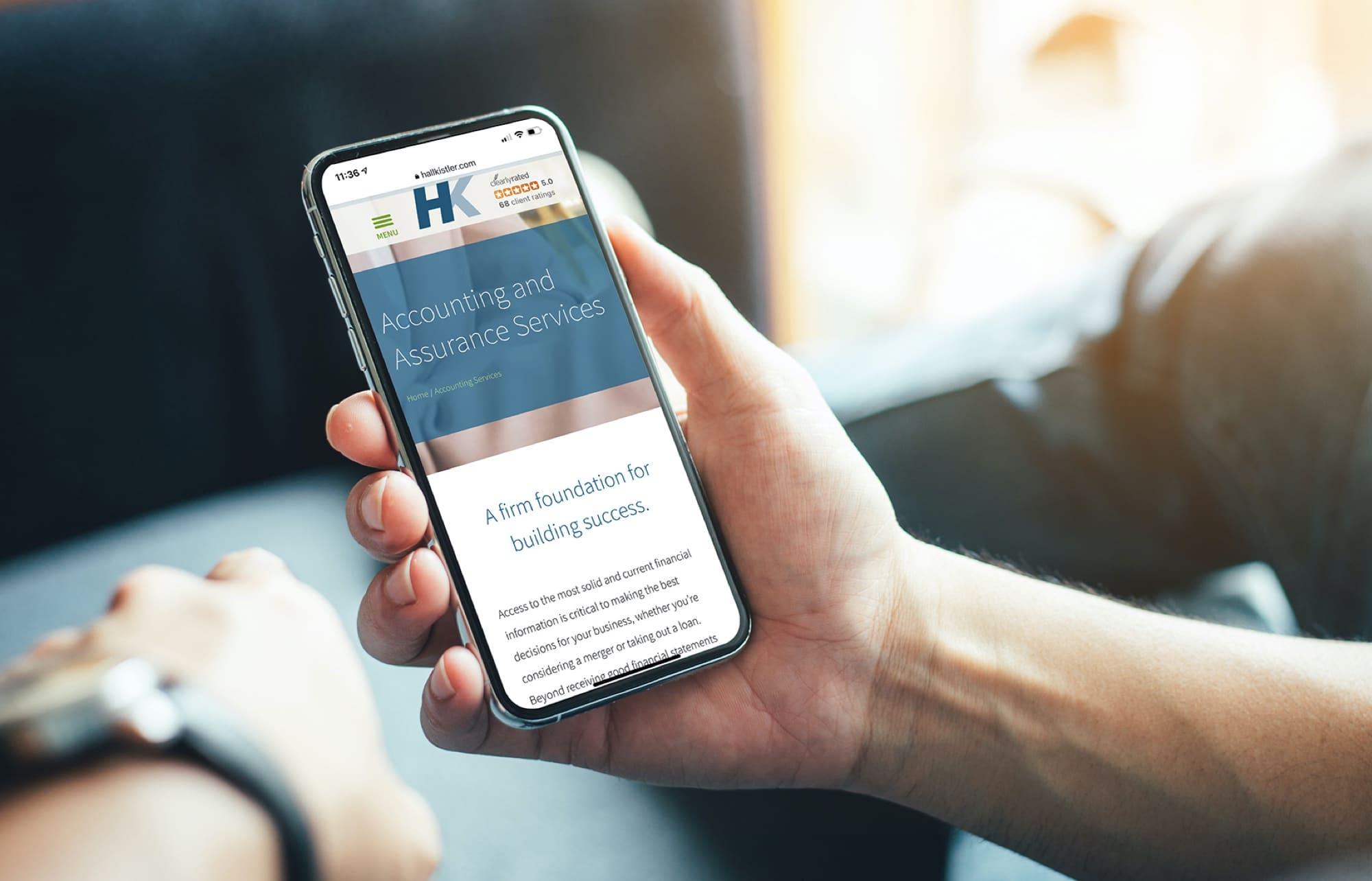 Website Design Mobile Phone Hall Kistler